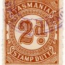 (I.B) Australia - Tasmania Revenue : Stamp Duty 2d (1931)