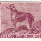 (I.B) George V Revenue : Ireland Dog Licence 2/- (1912)