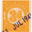 (I.B) Australia - Tasmania Revenue : Stamp Duty 3d (1931)