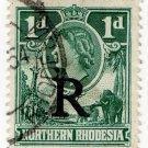(I.B) Northern Rhodesia Revenue : Duty Stamp 1d (postally used)