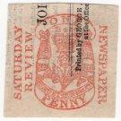 (I.B) George IV Revenue : Newspaper Duty 1d (Saturday Review)