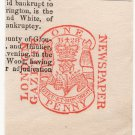 (I.B) George IV Revenue : Newspaper Duty 1d (London Gazette)