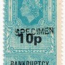(I.B) Elizabeth II Revenue : Bankruptcy (Northern Ireland) 10p