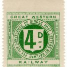 (I.B) Great Western Railway : Letter Stamp 4d