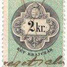 (I.B) Austria/Hungary Revenue : Stempelmarke 2Kr