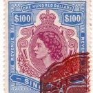 (I.B) Singapore Revenue : Duty Stamp $100