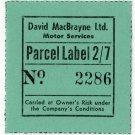 (I.B) Cinderella Collection : David MacBrayne Motor Services - Parcel 2/7d