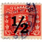 (I.B) Canada Revenue : Excise Duty 3/16c (½c overprint)
