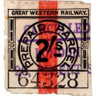 (I.B) Great Western Railway : Parcel Stamp 2/- (London - Regent Street)