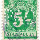 (I.B) Australia - NSW Revenue : Stamp Duty 5/- (Phoenix Assurance perfin)