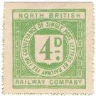 (I.B) North British Railway : Letter Stamp 4d