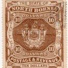 (I.B) British North Borneo Revenue : Duty Stamp $10 (State)