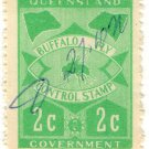(I.B) Australia - Queensland Revenue : Buffalo Fly 2c