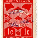 (I.B) Australia - Queensland Revenue : Buffalo Fly 1c