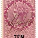 (I.B) Straits Settlements Revenue : Duty Stamp 10c