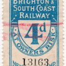 (I.B) London Brighton & South Coast Railway : Newspaper Parcel 4d