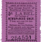 (I.B) Great North of Scotland Railway : Newspapers 3d