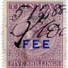 (I.B) Trinidad & Tobago Revenue : Fee 5/-