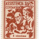 (I.B) Spain Cinderella : Civil War Charity Stamp 5c (Cerdanyola)