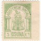 (I.B) Spain Cinderella : Civil War Charity Stamp 5c (Osuna)