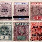 (I.B) Gold Coast Postal : Overprints Collection