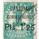 (I.B) Spain Postal : Canaries 1.25pts Airmail OP