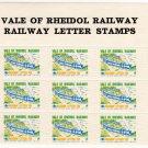 (I.B) Vale of Rheidol Railway : Letter Stamp 1d