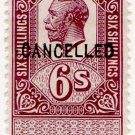 (I.B) George V Revenue : Unappropriated Die Proof 6/-
