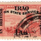 (I.B) Iraq Postal : British Occupation : 1a on 20pi OP (State Service)