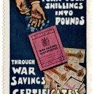 (I.B) Cinderella Collection : War Savings (Shillings into Pounds)