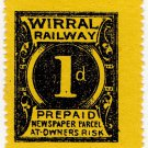 (I.B) Wirral Railway : Newspaper Parcel 1d