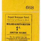 (I.B) Midland & South Western Junction Railway : Newspaper Parcel 1d