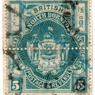 (I.B) British North Borneo Postal : $5 Blue-Green (colour trial)