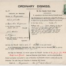 (I.B) George V Revenue : County Courts Ireland 2/- (complete document)