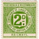 (I.B) Portpatrick & Wigtownshire Railways : Letter Stamp 2d