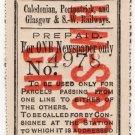 (I.B) Caledonian, Portpatrick & Glasgow & SW Railways : Newspaper Parcel