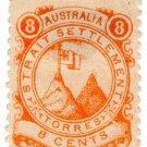 (I.B) Australia Cinderella : Straits Settlements (Torres) 8c