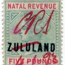 (I.B) Zululand Revenue : Duty Stamp £5