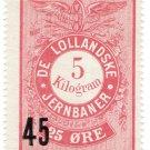 (I.B) Denmark Railway : Lollandske Jerbaner Parcels 45 on 25 Øre