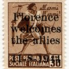 (I.B) Italy Postal : 30c Brown (Florence Welcomes the Allies overprint 1944)