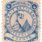 (I.B) Australia Cinderella : Straits Settlements (Torres) 4c