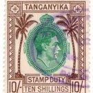(I.B) KUT Revenue : Tanganyika Stamp Duty 10/-