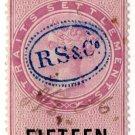 (I.B) Straits Settlements Revenue : Duty Stamp 15c