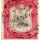 (I.B) Rhodesia/British Central Africa Revenue : Duty 4/- (Blantyre)