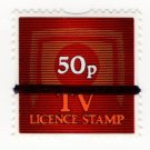 (I.B) Elizabeth II Revenue : TV Licence Savings Stamp 50p