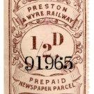 (I.B) Preston & Wyre Railway : Newspapers ½d