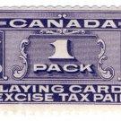 (I.B) Canada Revenue : Playing Card Duty