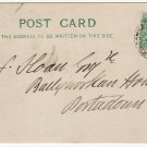 (I.B) Ireland Railways : Portadown & Derry TPO card (1911)