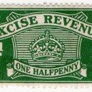 (I.B) Excise Revenue : ½d Green (1916)