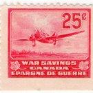(I.B) Canada Revenue : War Savings Stamp 25c (Bomber)